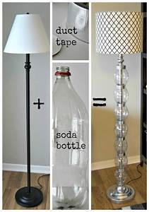 Inexpensive diy floor lamp ideas to make at home for Floor lamp makeover ideas