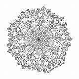 Coloring Corner Mandala sketch template