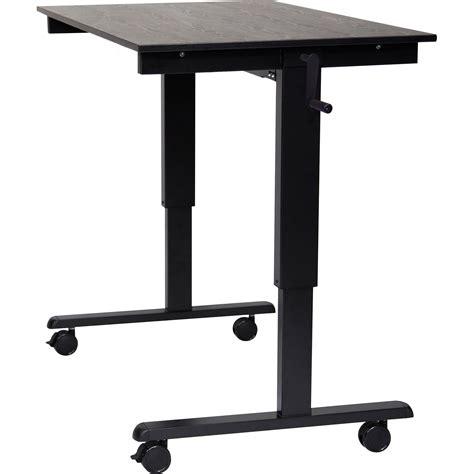 luxor stand up desk luxor 48 quot crank adjustable stand up desk standcf48 bk bo