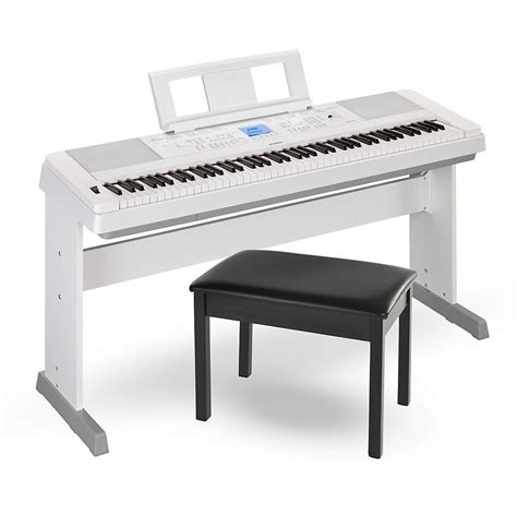 Yamaha Dgx660 88key Portable Grand Piano White With Bench