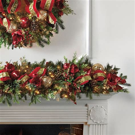 christmas garland ideas christmas joy decorated pre lit garland christmas decorating pint