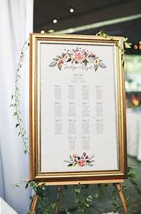 Floral wedding seating chart printable seating chart for Wedding table sign ideas