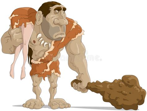 The Neanderthal Man Stock Vector. Illustration Of