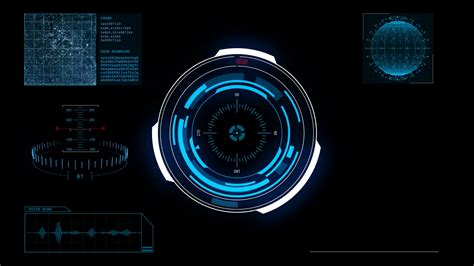 Hud Futuristic High Tech Alpha Channel Display Scanner