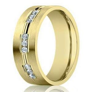 mm designer  yellow gold wedding ring  men