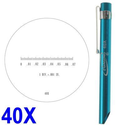 electronic fence pocket scope magnifier scale 40x magnification mic