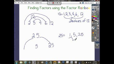 finding factors  factor rainbowavi youtube