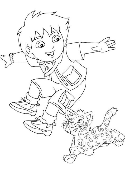 Pictures Diego With Jaguar Coloring Pages (With images