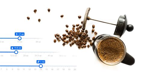 How much coffee grounds for 1 cup? French Press Coffee to Water Ratio Calculator