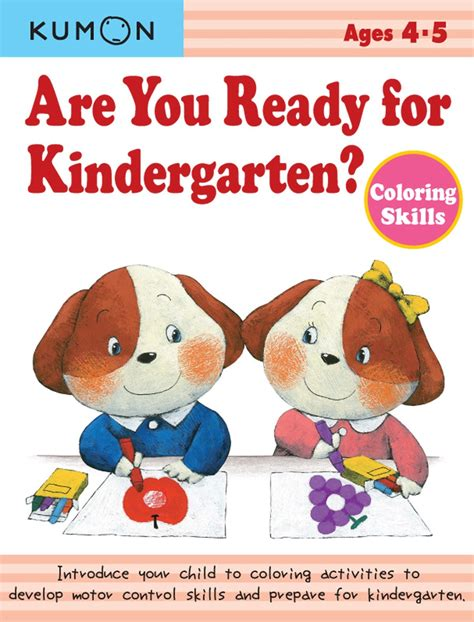 kumon are you ready for kindergarten colouring skills 952 | 9781935800163