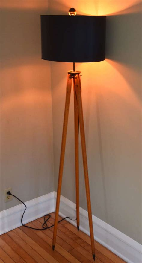 floor l created from wooden surveyor tripod at 1stdibs