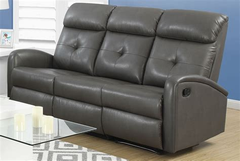 gray reclining sofa and loveseat 88gy 3 charcoal gray bonded leather reclining sofa from