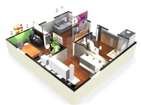 un plan de maison en 3d