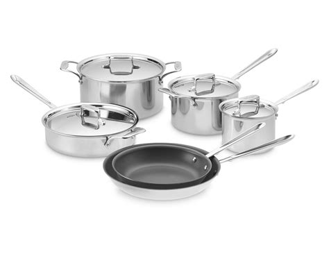 clad  stainless steel nonstick  piece cookware set williams sonoma au