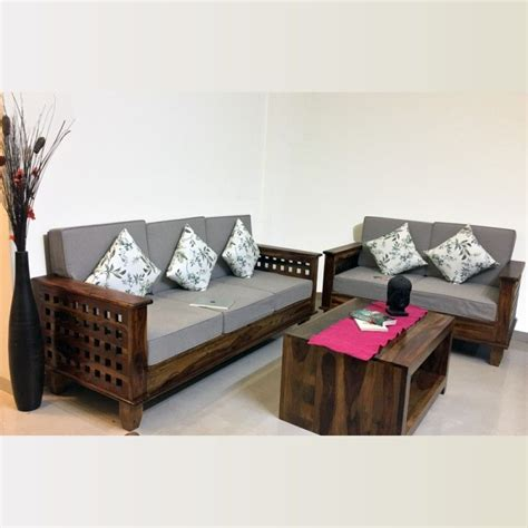 Wooden Sofa Set Shopping by Wooden Sofa Set Sheesham Four Square Rightwood Furniture