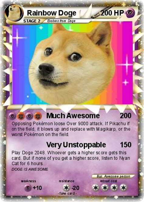 Rainbow doge confirmed remix on scratch. Pokémon Rainbow Doge - Much Awesome - My Pokemon Card