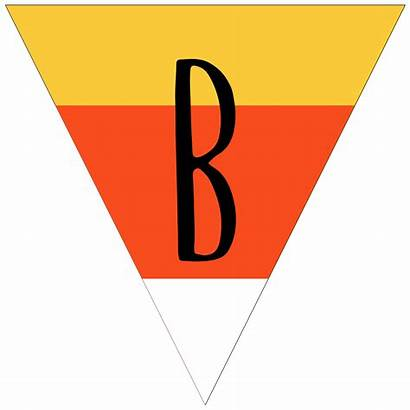 Banner Printable Halloween Candy Corn Letters Letter