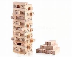 Jenga Block Toy 54 Genuine Hardwood Blocks - TOYHOPE