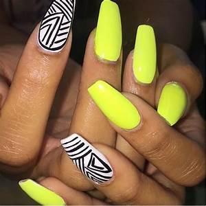Nice Neon Yellow Nail Polish Illustration - Nail Paint Design Ideas - nailsalonsnow.info