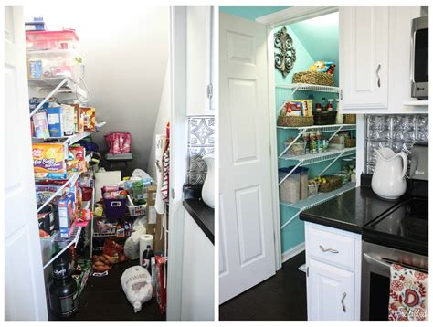 cleaning the pantry pile up to create usable space