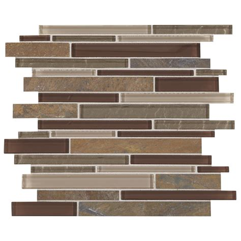 daltile decor rustic slate with mixed color glass 12