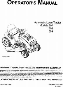 Mtd 13af608g062 User Manual Lawn Tractor Manuals And