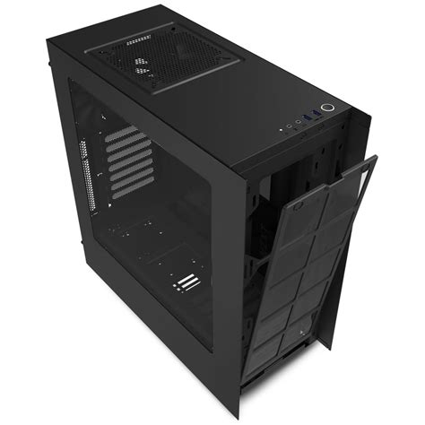 nzxt s340 case fans nzxt s340 pure black mid tower gaming case