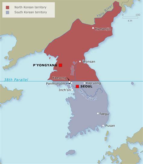 map north  south korea  travel information