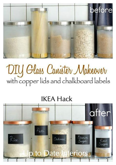 What To Put In Kitchen Canisters by Diy Glass Canister Makeover Ikea Hack Ikea Hacks