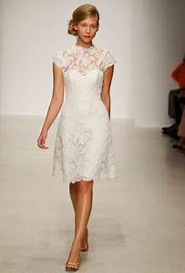 beautiful collections of short lace wedding dresses With short lace wedding dress