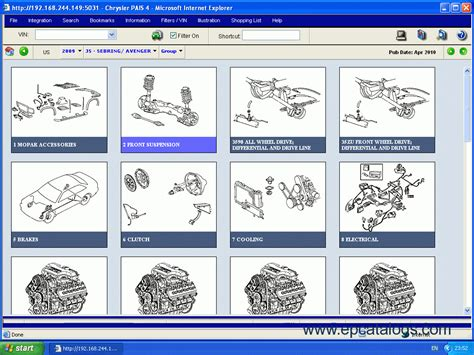 Chrysler Parts Catalog by Chrysler International Pais4 Spare Parts Catalog