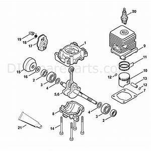 Stihl Fs 55 Brushcutter  Fs55r  Parts Diagram  Cylinder