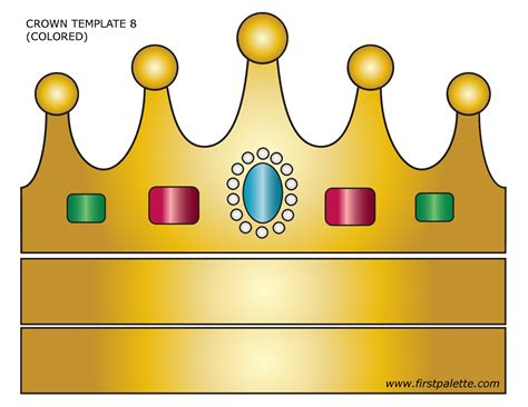 Free Printable Princess Crown Template by Prince Crown Template