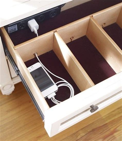 l with charging station remodelaholic get rid of cord clutter with these 25 diy