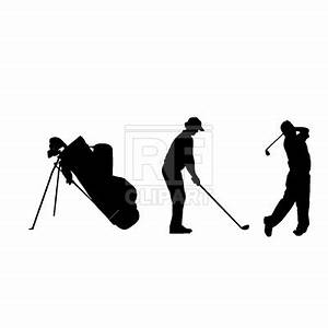 Golf players silhouette, 289, People, download Royalty ...