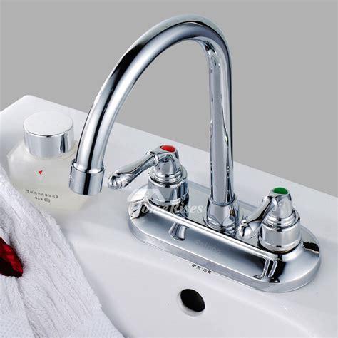 silver kitchen faucet gooseneck vessel cheap  handle chrome
