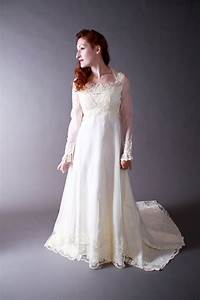 Vintage 1970s wedding gown romantic juliette renaissance for 1970 s style wedding dresses