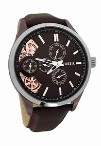 fossil classic brown chronograph footwear