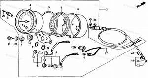 Honda Motorcycle 1985 Oem Parts Diagram For Speedometer