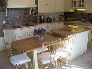 Fabriquer Une Table De Cuisine Avec Un Plan De Travail : ambiance cuisine meubles contarin ~ Nature-et-papiers.com Idées de Décoration