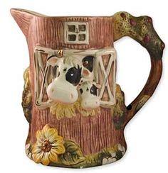 cow kitchen accessories farm pig wire food storage basket country kitchen animal 2974