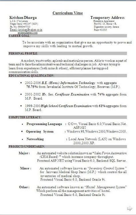 Best Resume Model Doc by 142 Best Images About Project Management On