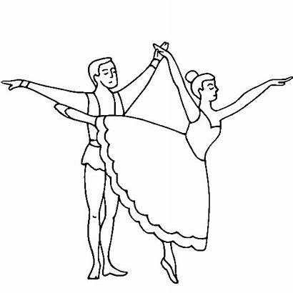 Coloring Ballet Pages Dance Dancing Dancer Couple