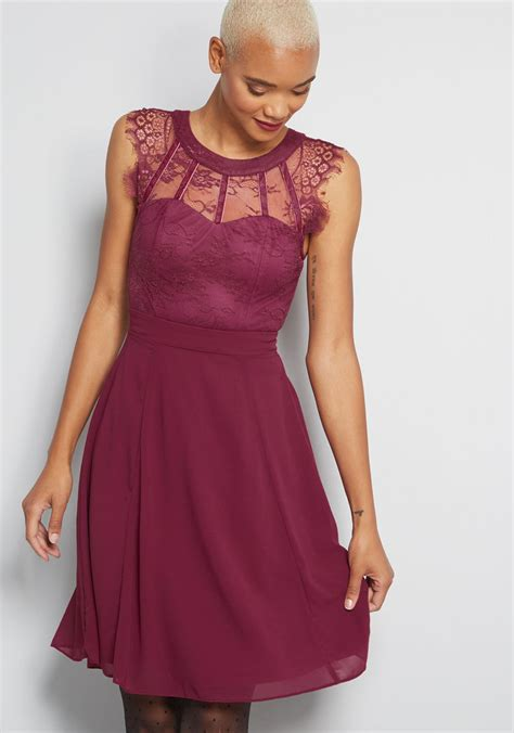 lace   dress  chiffon skirt modcloth