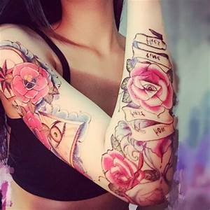 Rose En Tatouage : tatouage ephemere rose sablier old school kolawi ~ Farleysfitness.com Idées de Décoration
