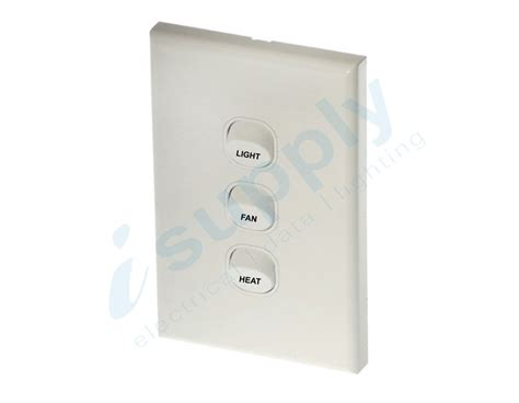 dexton 3 gang wall switch light fan heat dxws3 lfh ebay