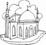 Colorare Moschea Disegno Coloring Mosque Categorie Ramadan sketch template