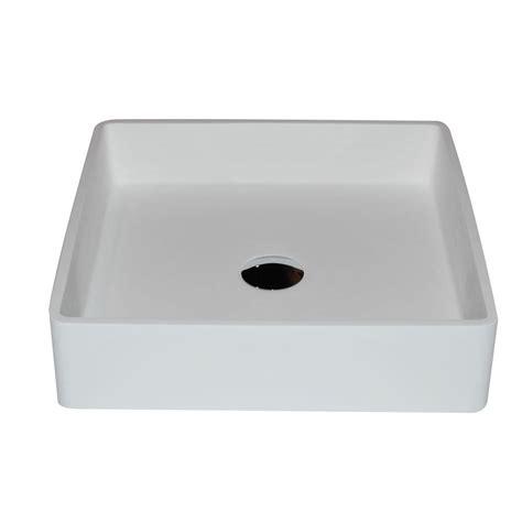 anzzi passage 1 piece man made stone vessel sink with pop