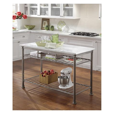 Home Styles The Orleans Kitchen Island With Marble Top