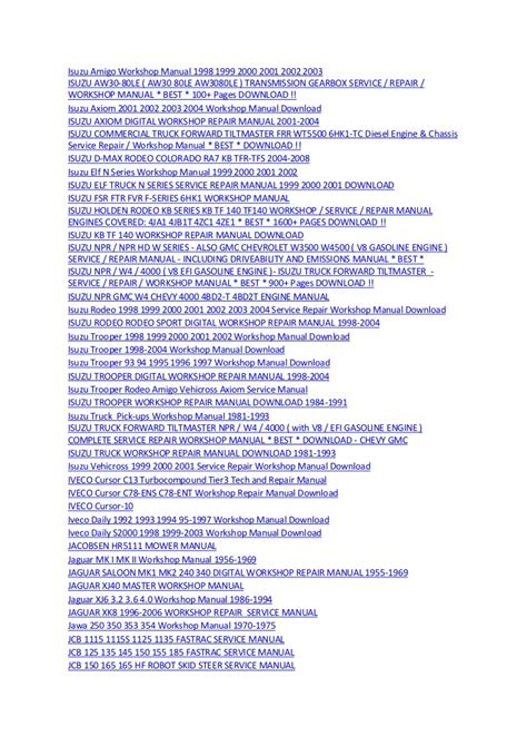 book repair manual 2006 isuzu i series electronic throttle control 1008 manuals 23032012